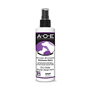 A.O.E Animal Odor Eliminator Remover Spray- Cleaner & Deodorizing Pet Anal Gland and Urine Odor Spray for use Directly on Dogs & Cats