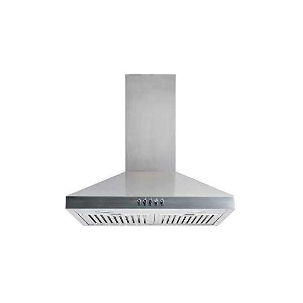 Winflo 30″ Convertible Stainless Steel Wall Mount Range Hood with Stainless...