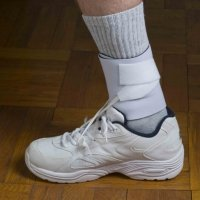 DORSI-STRAP PRO White. Heavy-duty support for Foot Drop. Comfortable, natural walking in your own shoes, plus sports, working, etc. The smallest, lightest, most flexible, and most comfortable foot drop brace available. Full ankle mobility. Cool year-round