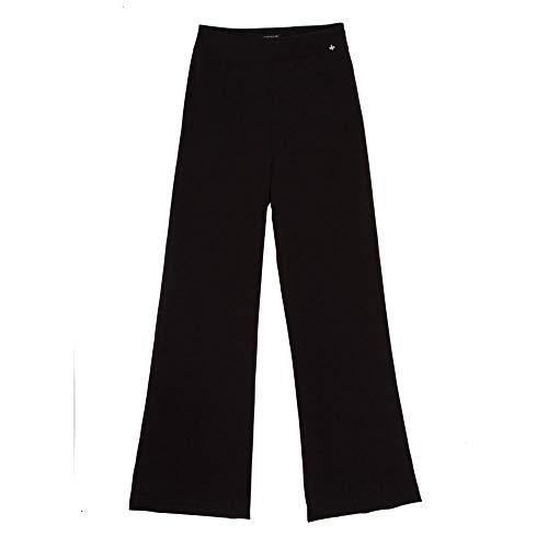 Calça Dudalina Cintura Alta Pantalona Black Feminina Calca Cint Alta Pantalona Black-Preto-38