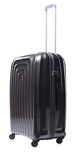 Lojel Wave Polycarbonate Medium Upright Spinner Luggage, Grey, One Size
