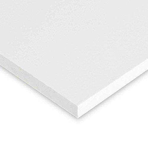 Online Plastic Supply PVC Expanded Plastic Sheet 1/2' (.500) x 24' x 48' - White