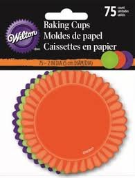Orange, Green, Purple and Black Halloween Cupcake Liners
