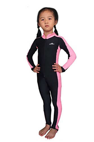 Labelar Kids Sunsuit Long Sleeve Swimwear One-piece Bodysuit Swimsuit