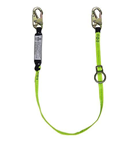 SafeWaze FS455 Tie-Back Energy Absorbing Lanyard - Web with Adjustable ring