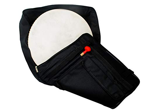 16 Inch Percussion Buffalo Tambourine Hand Drum Padded Case by Trademark Innovations (DRUM NOT INCLUDED)