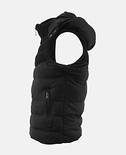 Modernas Hombres Schwarz Invierno Ocio Abrigo Invierno Capucha Chaleco Jacket De Mitten Bodywarmer HaiDean para Casual De con Chaleco Chaqueta Acolchado qSYXnHx