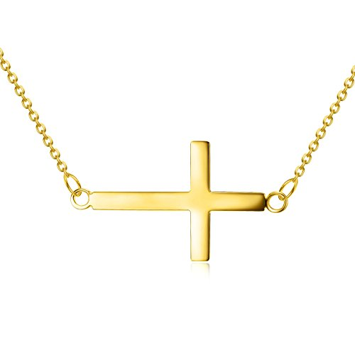 High Polish Cross Necklace - 5