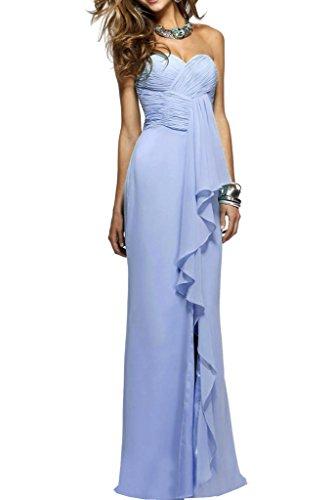 Damen Herz Festkleid Chiffon Lang Abendkleid Promkleid Lavendel Ivydressing Ausschnitt Ballkleid Rueckenfrei Einfach aBqwdxRO