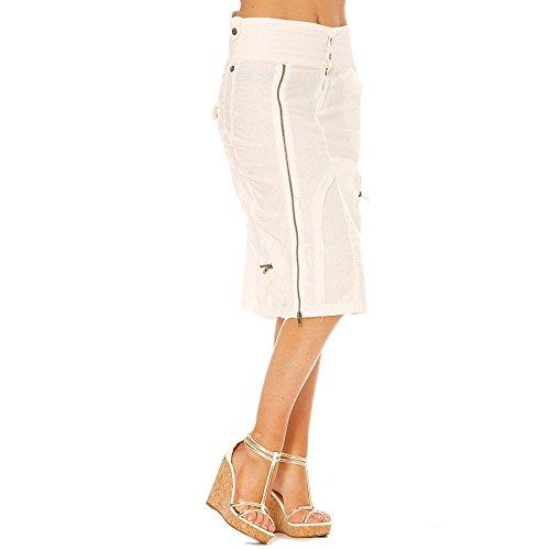 Miss Wear Line Damen Straight Leg Rock Weiß weiß