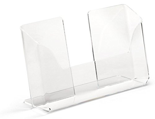 Displays2go Postcard Holders for Tabletop, Fits 6'' x 4'' Cards, Set of 20 - Clear (LHPCLAND) by Displays2go (Image #1)
