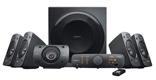 powerful Logitech Z906 5.1 Surround Sound Speaker System - THX, Dolby Digital and DTS Digital Certified