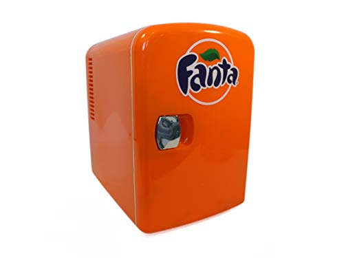 Coca-Cola FA04 Fanta Personal Cooler. 12 volt & 110V DC for your home, 6 can, Orange