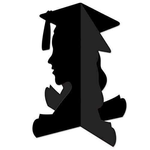 Beistle 3D Girl Graduate Centerpiece, 10.75