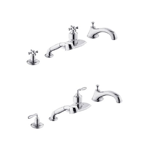 Grohe Seabury Roman Tub Faucet (Grohe 19045AV0 Seabury Roman Tub Faucet with Hand Shower Satin Nickel)