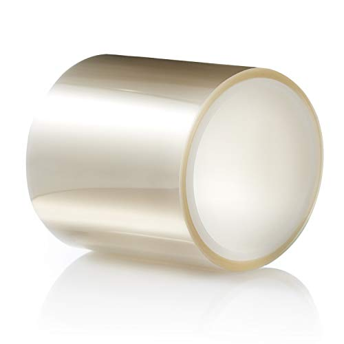 TIERRAFILM Clear Acetate Roll 4 inch High - Cake Collar for Chocolate and Cake Decorating - Used by Top Pastry Chefs (4 x 16 feet 125 Micron)
