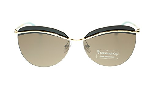 TIFFANY & CO Butterfly Women's Sunglasses TF3057 602173 Pale Gold/Brown 60mm - Tiffany Sunglasses Butterfly