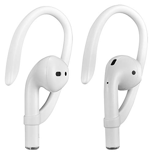 AirPods Ear Hooks Compatible with Apple AirPods 1 & 2, ICARERSPACE Sports Headset for AirPods 1 & 2 - White