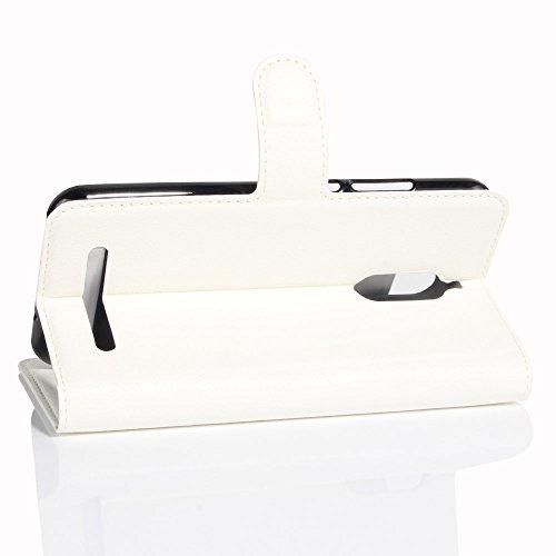 Funda ZTE Nubia N1 Llite,Manyip Caja del teléfono del cuero,Protector de Pantalla de Slim Case Estilo Billetera con Ranuras para Tarjetas, Soporte Plegable, Cierre Magnético A
