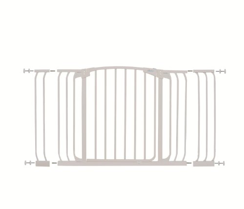 Hallway Swing Closed Saftey Gate Value Package in White