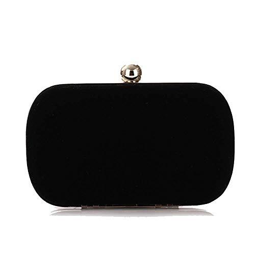 Banquet Bag Bag Bag Women's Fashion Women's Velvet Bagood Chain fashion Clutch Bag Bag Black APFx7wvfq