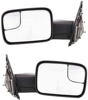 New Driver Side Manual Non-Heated Towing Mirror For Dodge Ram Trucks 2002-2009