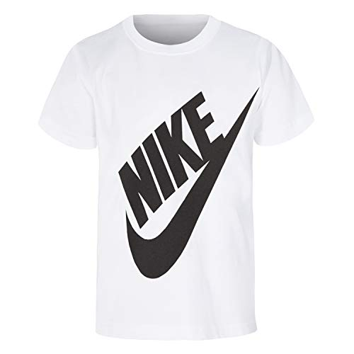 NIKE Children's Apparel Boys' Little Sportswear Graphic T-Shirt, White, 6