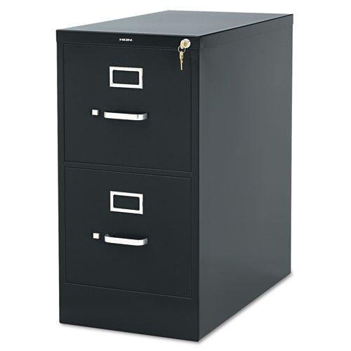 HON 2-Drawer Office Filing Cabinet - 310 Series Full-Suspension Letter File Cabinet, 26.5''D, Black (H312)