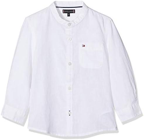 Tommy Hilfiger Baby-Jungen Essential Cotton Linen Shirt L//S Hemd