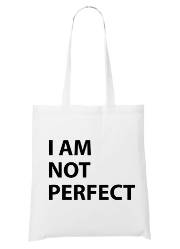 I Am Not Perfect Bolsa Blanco