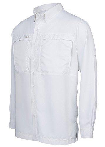 GameGuard Outdoors White MicroFiber Shirt   Long Sleeve   3X