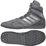 adidas Impact Men's Wrestling Shoes, Grey Camo Print, Size 5