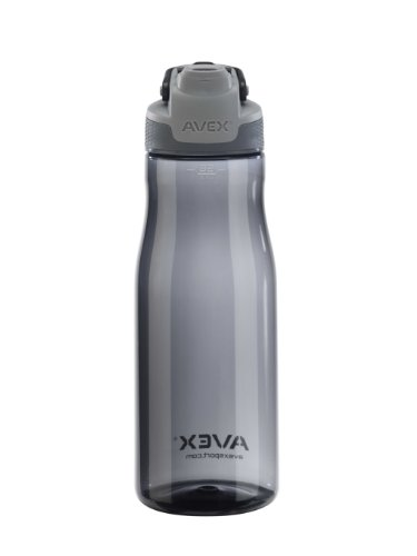 AVEX Brazos Water Bottle, Charcoal, 32-Ounce