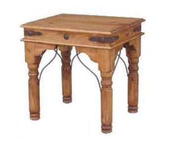 End Table With Conchos