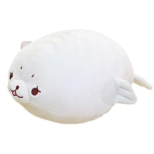 Transer- Very Soft Fat Seal Big Hugging Pillow Cute Kawaii Plush Sea Dog Stuffed Animals Toys Gift (Gray Seal, 24