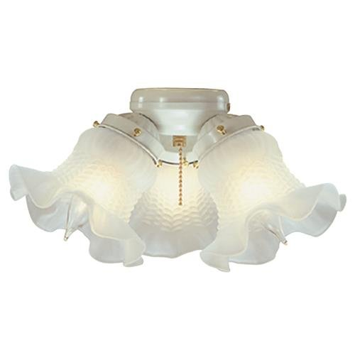 Bala 103637 Fan Light Kit White 3Lt Tulip (Fan Ceiling Glass Frosted Tulip)