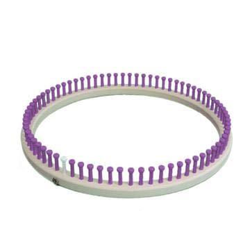 Purple CINDWOOD Small Round Afghan 5//8 75 peg Loom