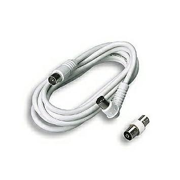 FANTON 31080 3m Blanco - Cable coaxial (3 m, Macho/Macho, Blanco
