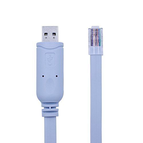 (USB Console Cable, USB to RJ45 Console Cable for Cisco Routers/AP Router/Switch/Windows 7, 8 (1.8m, Blue))