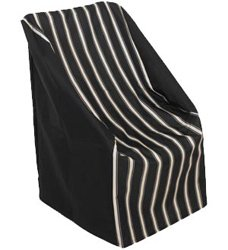 Classic Accessories 78932 Veranda - High Back Patio Chair Cover, Pebble/Bark/Earth Finish