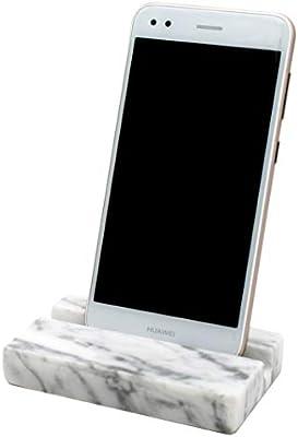 YOU+ Countertop Phone Holder - Modern Carrara White Marble Phone ...