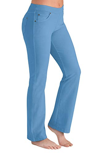 PajamaJeans Women's Bootcut Stretch Knit Denim Jeans, Cool Blue, X-Small / 0-2