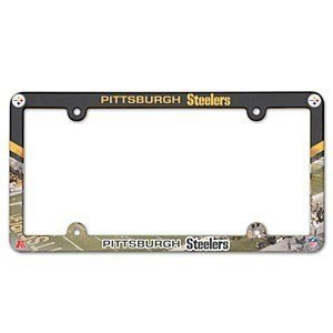 NFL Pittsburgh Steelers LIC Plate Frame Full Color at Steeler Mania