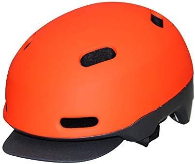 大人用自転車ヘルメット インモールドマウンテンヘルメットユニセックス大人のバイク乗馬ヘルメット スポーツ 大人 男女兼用 (Color : Orange, Size : M)