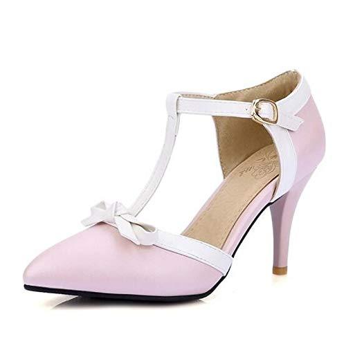 Tacco Rosa Basic ZHZNVX donna Scarpe Blu Pink spillo Pump Heels Bianco da PU a Spring poliuretano w1gRW4zqw