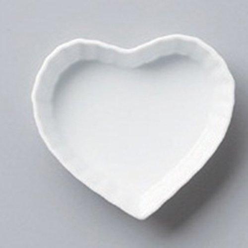 Plate utw568-13-374 [4.7 x 4.4 x 1.2 inch] Japanece ceramic Heart quiche S tableware