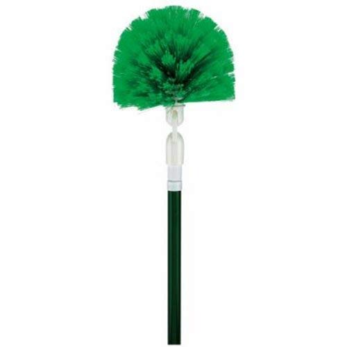 Libman Commercial 118 Swivel Duster and Handle, Steel Handle, 8'' Wide Duster Head, Green and White (Pack of 4)