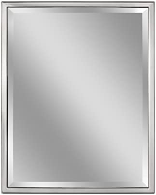Head West 30 x 40 Classic Chrome 1 in. Wide Metal Frame Wall Mirror