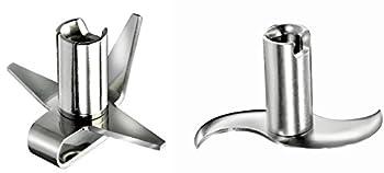 Bamix Blade Set for All Models - Multi Purpose Blade + Meat/Vegetable Blade (2 Blade Set)