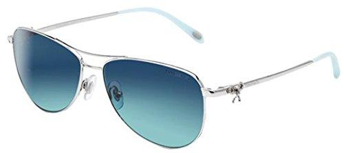 tiffany-co-womens-tf3044-tf-3044-60014s-silver-aviator-sunglasses-58mm
